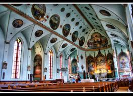 Interior of St. Ignatius Mission Church.