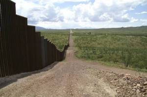 A high wall was erected across the valley to stop the flow of immigrants.