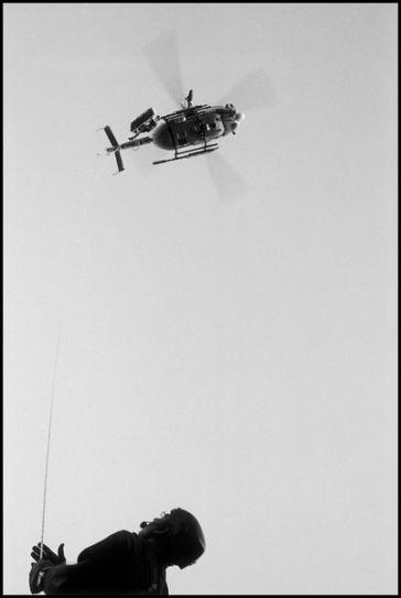 Ajaccio corse du sud Aôut 2004 sauvetage avec l'aide des montagnards pompiers tour de la parata.