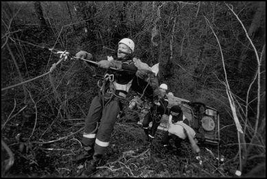 Anncey caserne Epagny décembre 2004 07H45 sauvetage d'une victime au moyen du treuil
