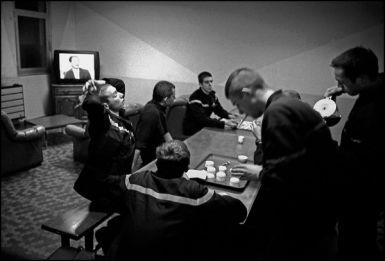 Liévin février 2004, 22H30 pose café après une intervention.
