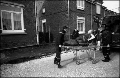 Liévin février 2004,15H15 transport d'un personne souffrant de problème respiratoire.