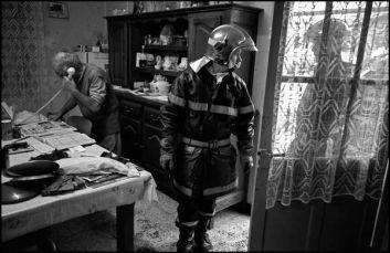 Linars charente, 01/01/2004 10h32, feu de cheminée dans une ferme isolée intervention de la caserne de la Couronne Banlieue d'Angoulême