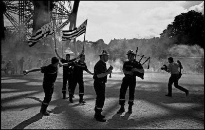 Paris, juin 2004, 16H00 manifestation des sapeurs pompiers