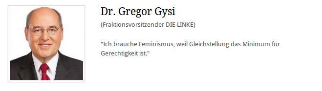 Gregor Gysi verwechselt Gleichstellung mit Gerechtigkeit
