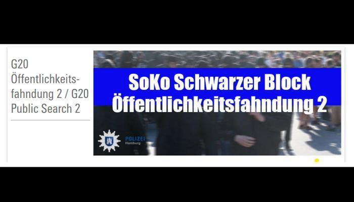 Polizei Hamburg: G20 Öffentlichkeitsfahndung