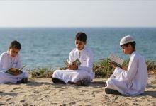 Photo of سلسلة بشرية لأطفال تقرأ القرآن على شاطئ غزة