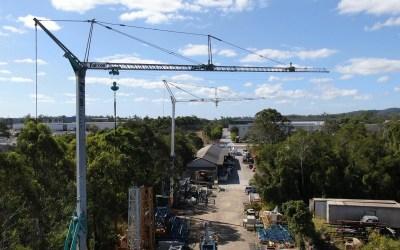 Falcon Cranes Yard – Self Erecting Cranes