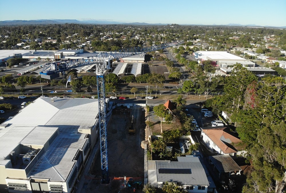 Tower Crane Erection for Logan Hospital Mental Health Expansion
