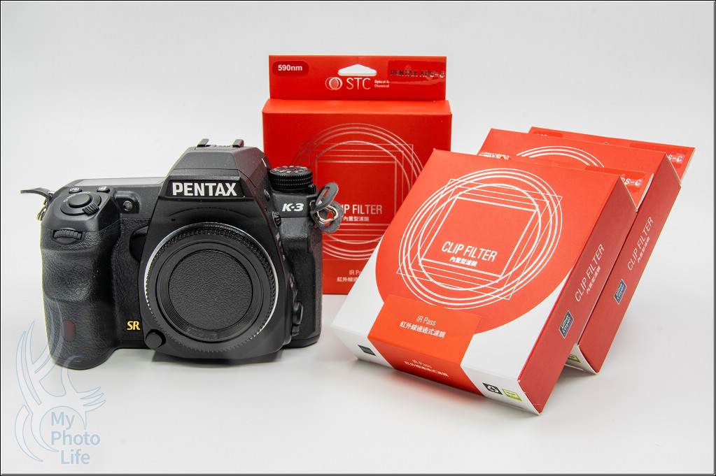 STC內置型紅外線通過式濾鏡(IR Pass 590nm、720nm、850nm) For PENTAX APS-C