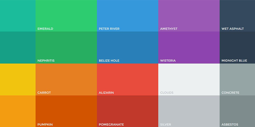 Paleta de colores flat para User Interface  FalconMasters
