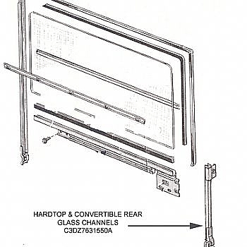 1963-1965 HARDTOP & CONVERTIBLE REAR GLASS CHANNELS