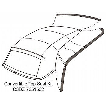 1963-1965 CONVERTIBLE TOP SEAL KITS