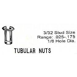 1960-1965 BARREL NUTS- 3/32 INCH DIAMETER STUDS