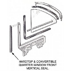 1963-1965 QUARTER WINDOW FRONT VERTICAL SEALS