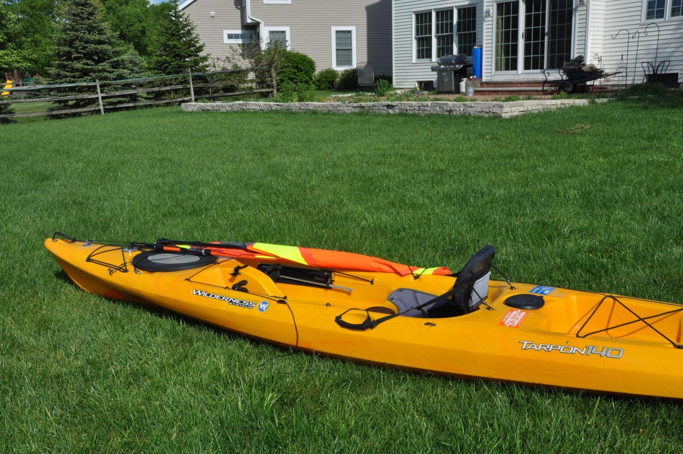 hight resolution of kayak sail lowered