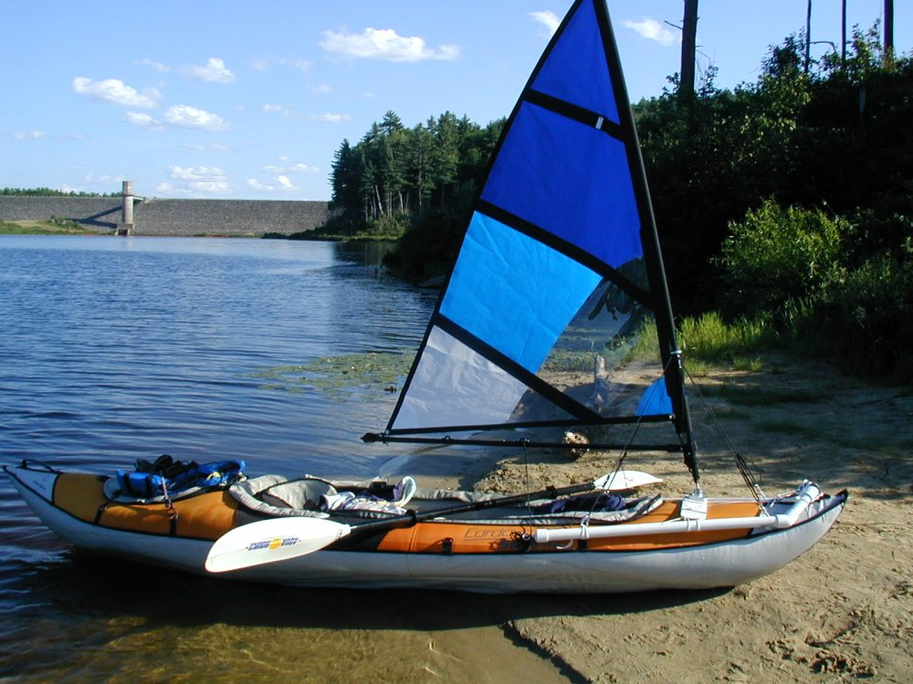 medium resolution of kayak sail on a inflateable kayak kayak sail on a inflateable kayak