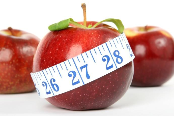red apples with white body meter