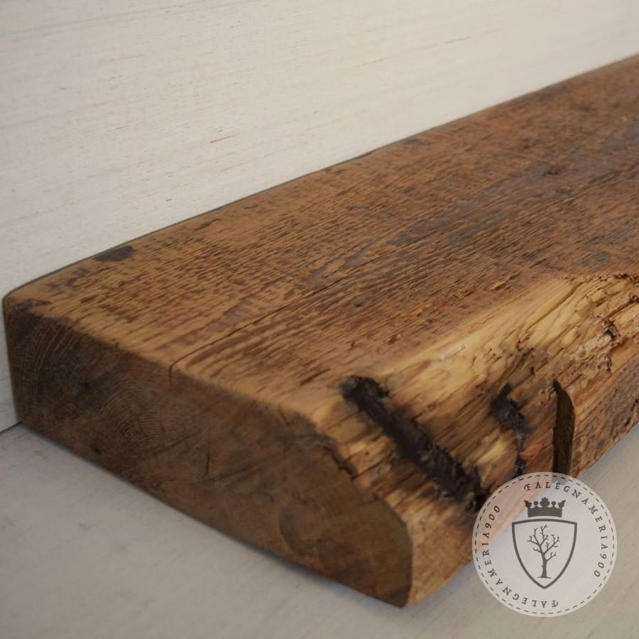 Librerie e Mensole in legno massello  Mensola in legno massello di castagno