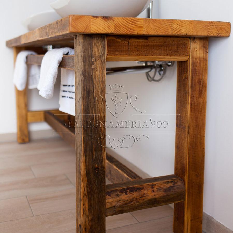 Mobile bagno in legno massello modello Beatrice