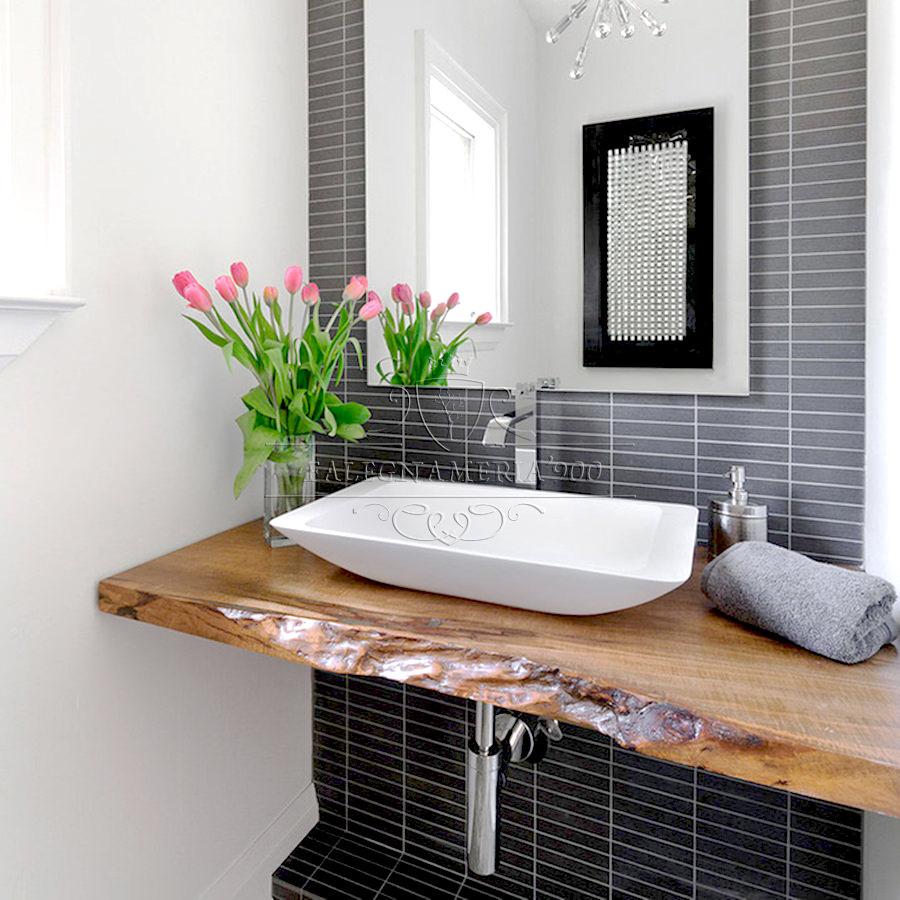 Mobile bagno in legno massello modello Federica