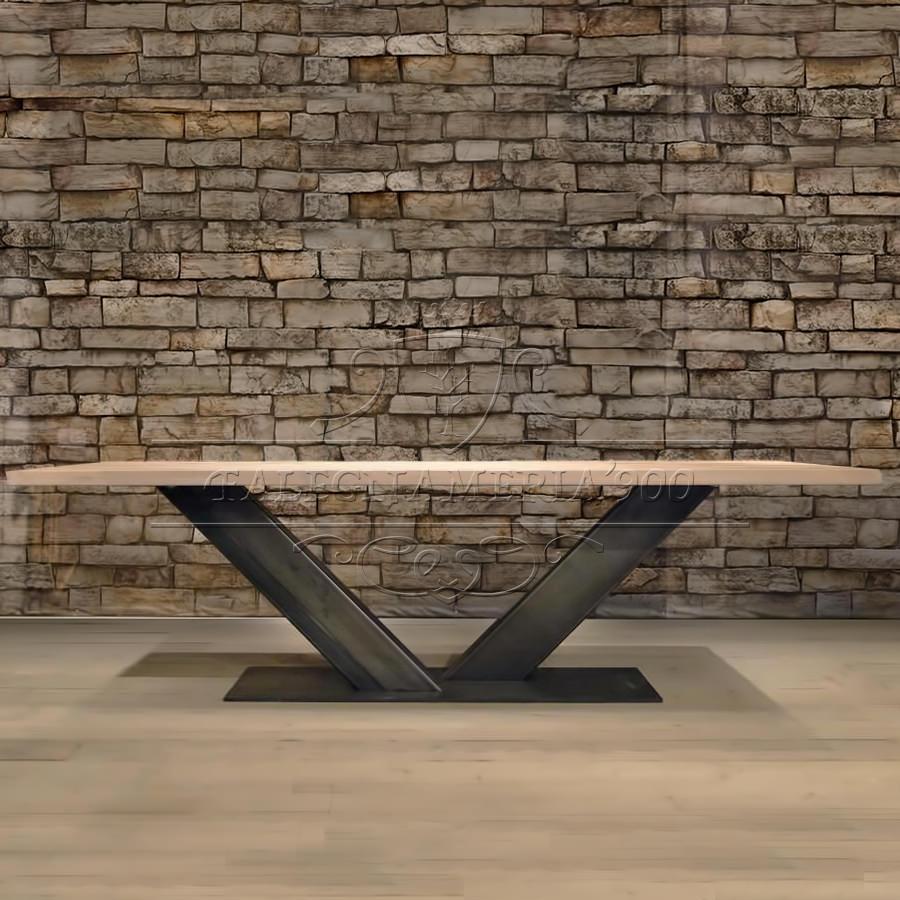 Tavolo in legno massello  Majestic Tavolo industriale in