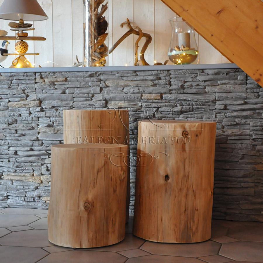 Tronco in legno massello per arredamento modello Mercurio