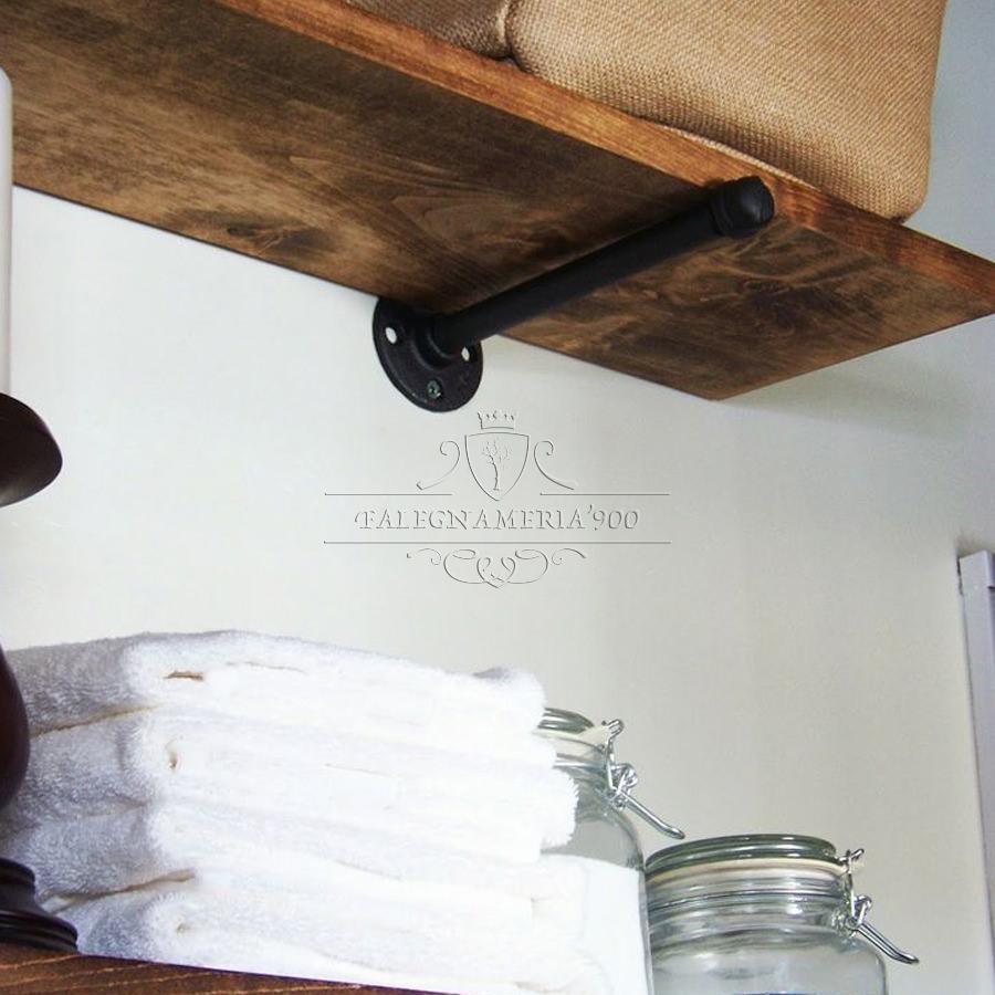 Soluzioni visivamente leggere, mensole e pensili con ripiani a vista creano. Mensole In Legno Massello Da Parete In Abete Falegnameria900 Mobili In Legno Su Misura