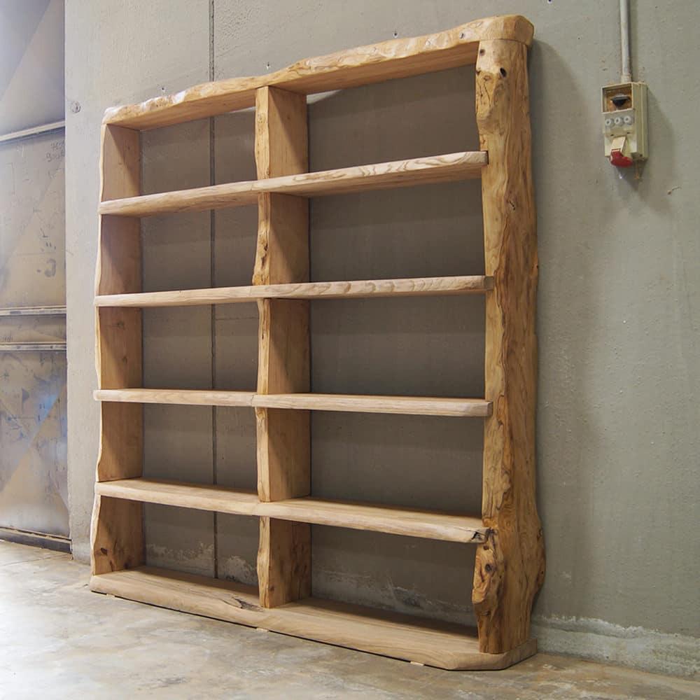 Libreria legno massello di castagno  Wood Big