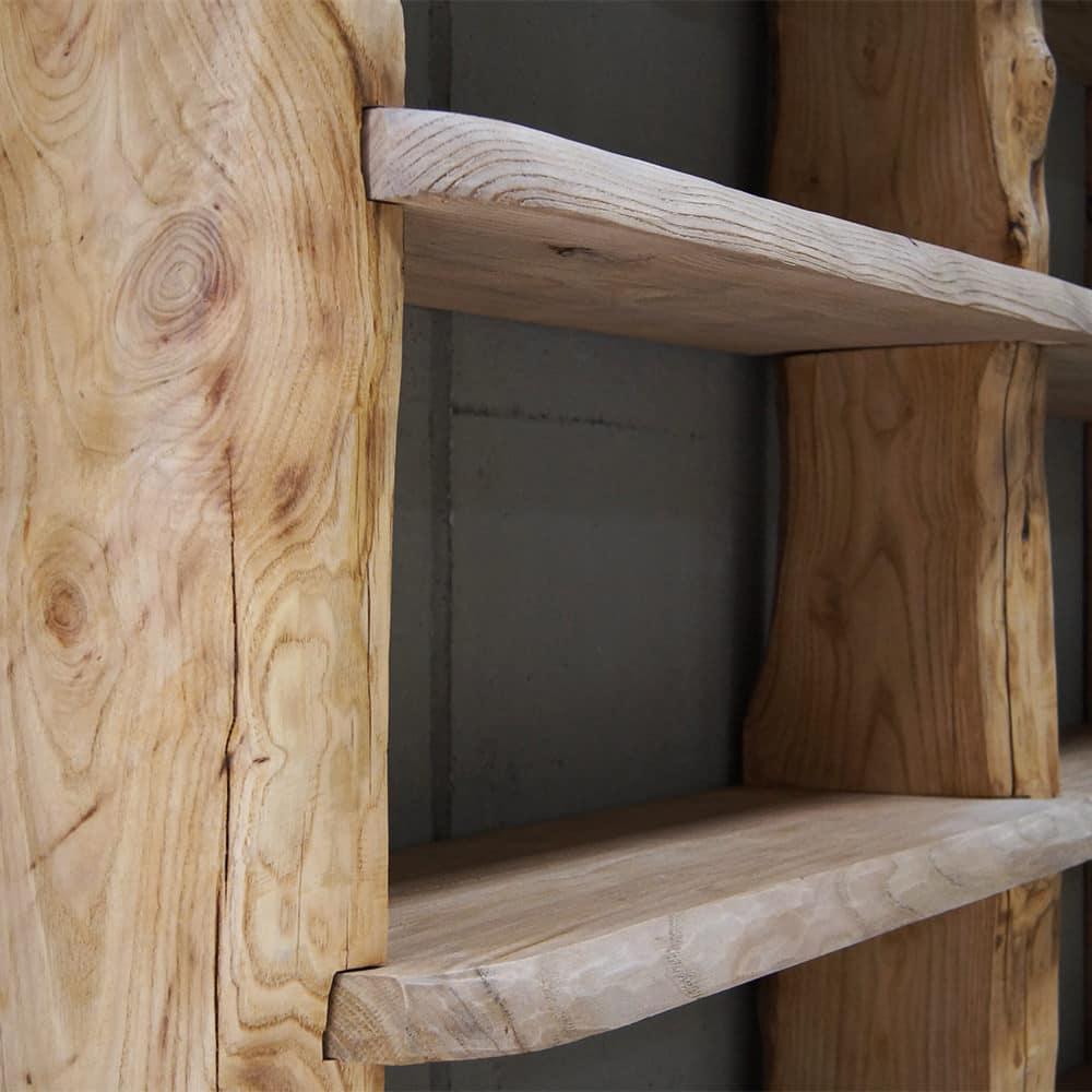 Libreria legno massello di castagno  Wood Big  Falegnameria900
