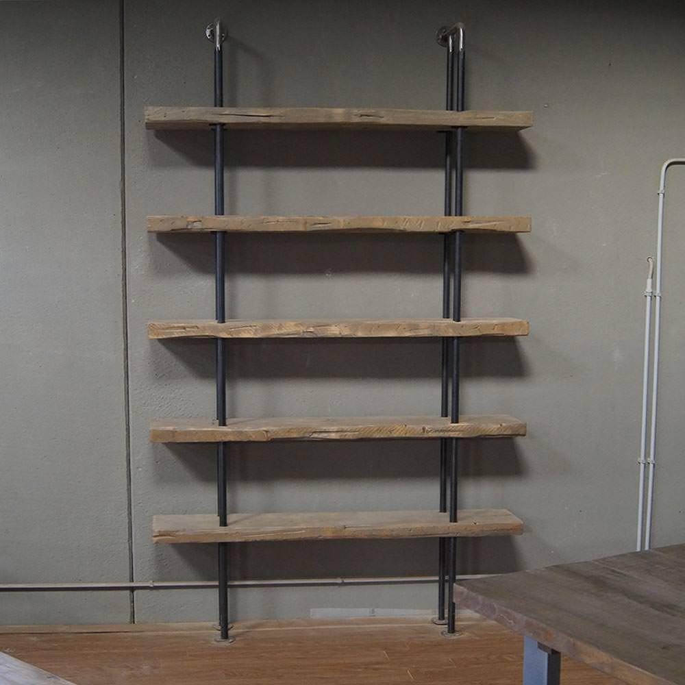 Libreria in legno massello di abete e ferro Stile