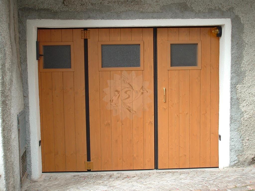 Portone garage a libro  Falegnameria Pojer