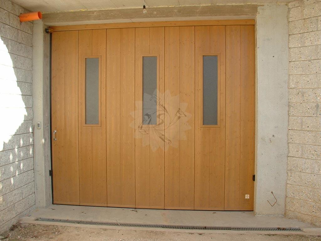 Portone garage scorrevole laterale  Falegnameria Pojer