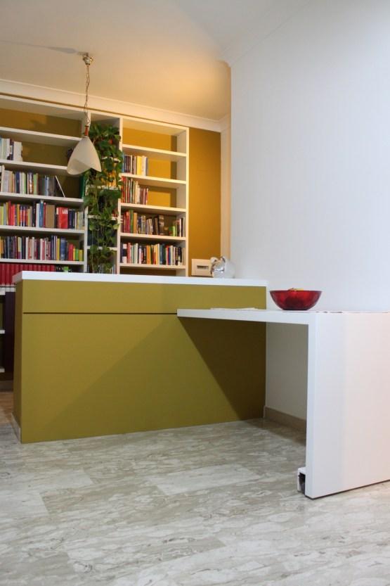 tavolo scorrevole a filo muro