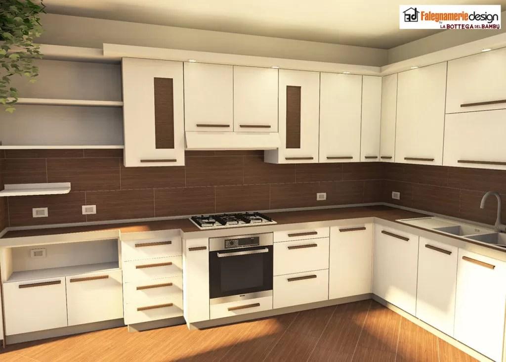 Cucine moderne Roma in legno su misura