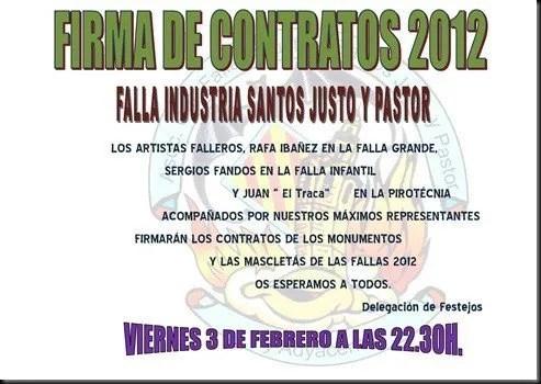 Cartel firma Contratos 2012