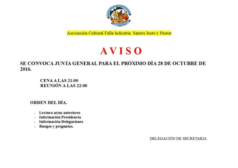 Junta General Octubre