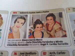 Bianca, Mireia y Carla. Diario Levante 14/03/2017