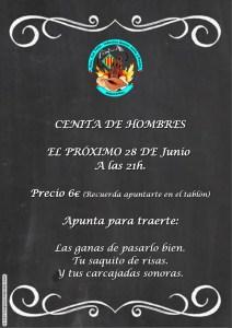 Cena Hombres Junio 2017 Falla Industria