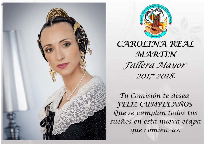 Felicidades Carolina Fallera Mayor Industria