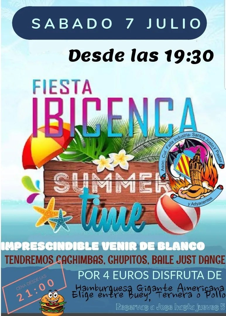 Fiesta IBICENCA 2018 Falla Industria