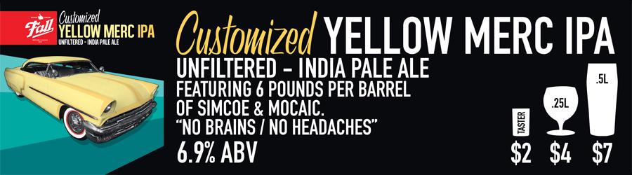 Customized Yellow Merc Beer Sign