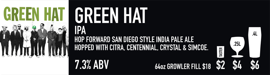 Green Hat Beer Sign