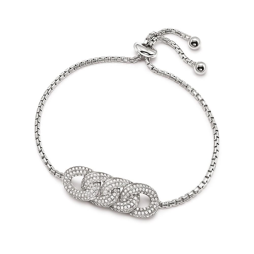 Folli Follie Sterling Silver Knots Toggle Bracelet