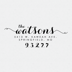 Custom Address Stamp Calligraphy