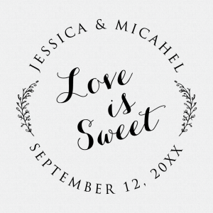 Love Is Sweet Wedding Favor Stamp