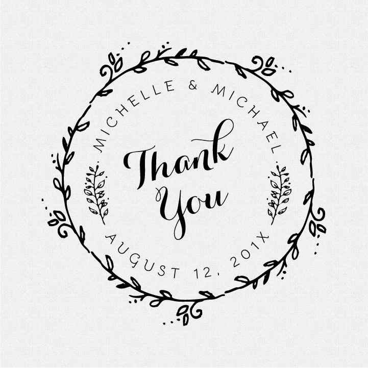 thank you personalized wedding
