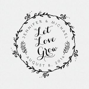 Let Love Grow Wedding Favor Stamp