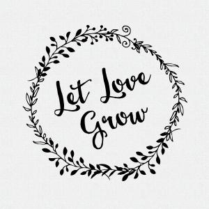 Let Love Grow Wedding Favor Stamp, Wedding Decor