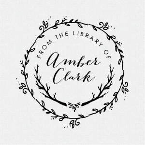 A beautiful custom and personalized from the library book stamp featuring a beautiful wreath and branches. Claim your book in style! T237